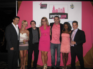 Michelle Miller with friends at a cancer benefit in Chicago.