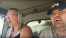Couple takes karaoke to the cab of their combine