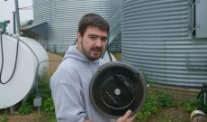 Tired of cleaning out your grain bin? Use a Roomba!