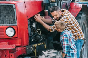 father son tractor
