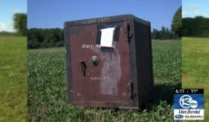 Mysterious safe found in farmer's field will remain a mystery